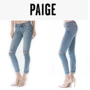 PAIGE Jeans Skinny Bella Distressed